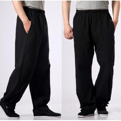 100% Cotton Kung fu Tai chi Pants Wushu Martial arts Wing Chun Clothing Training Trousers