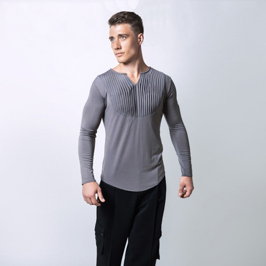8630fdb4e Latin Dance Shirts For Males White Grey Black Color Modal Shirt High  Quality Men Chacha Professional +. + · + · +