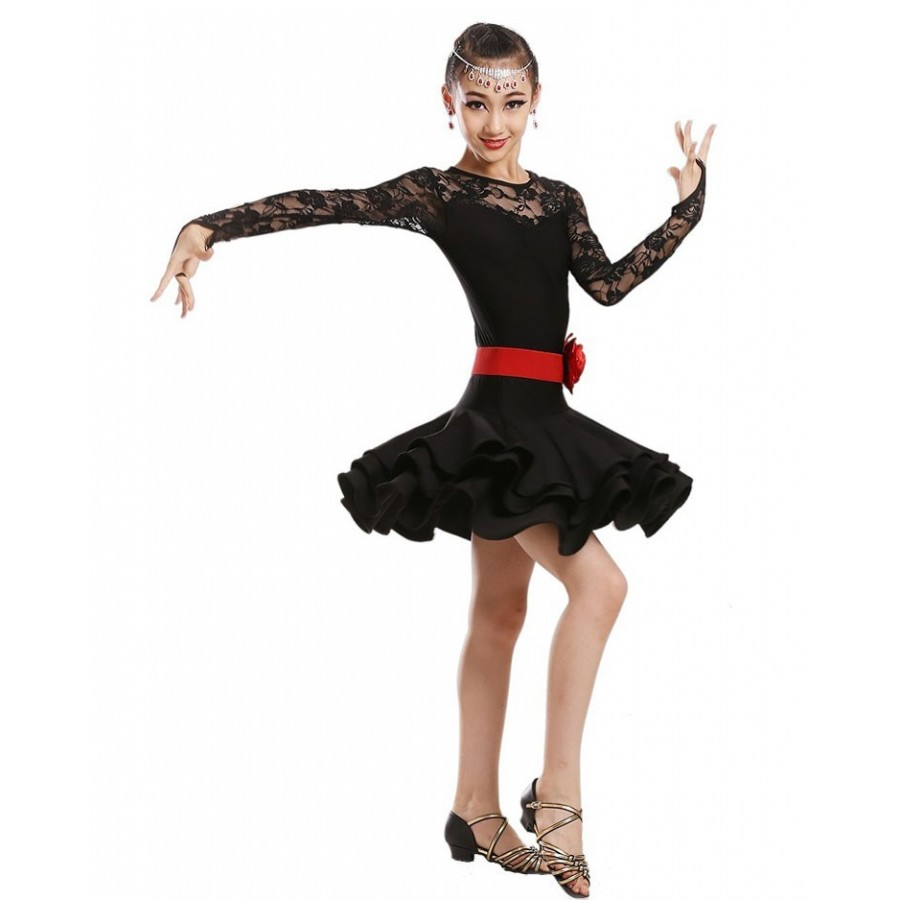 abf95318d5be Children latin Dance Dress For Girls Cha-Cha Kids Competition ballet ...