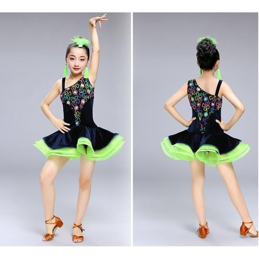 499c6c099 kids Sexy Lace Dance Costumes Competition Dresses Dress Salsa Dancewear  Tango Clothes Girls ballroom dancing dresses