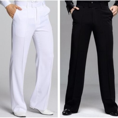 black men's male competition performance professional ballroom tango latin dancing long pants