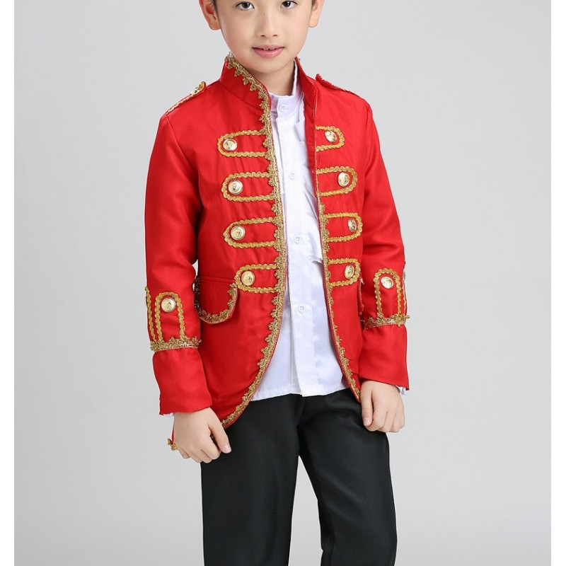 Boys Jazz Dance Costumes Halloween children's Court performance Clothing , Sax's musical performance Clothing, jazz suit chorus dress.
