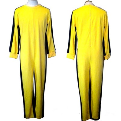 Bruce Lee Jumpsuit yellow tracksuit kungfu training clothes classic nunchukus jeet kune do uniform