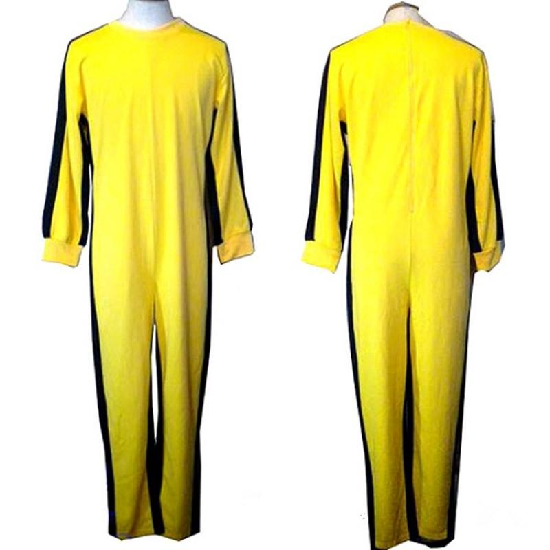 Bruce Lee Jumpsuit yellow tracksuit kungfu training clothes classic nunchukus jeet kune do uniform