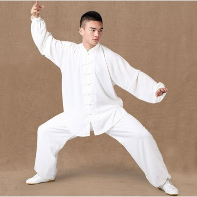 Chiffon Tai Chi clothes Chinese style morning exercises middle-aged and old men and women summer martial arts Tai Chi exercise clothing