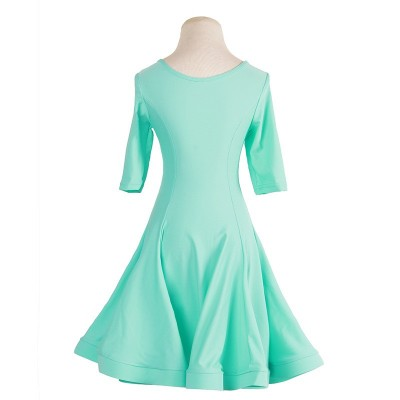 Children ballroom dance dress green pink blue girls latin sexy dirls kids latin dancing dress For Sta