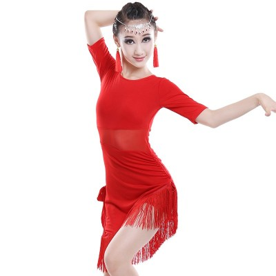 Children Latin Dance Dress Children's Competition Performing Gonggong Liushu Dress Girls