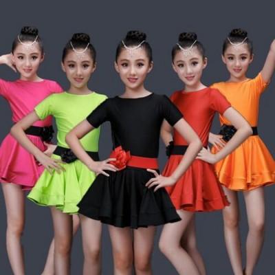 Children Latin Dancewear Competition latin Dancing dress Girl Dance Costume Child Latin Ballet Dance Dress For Girls
