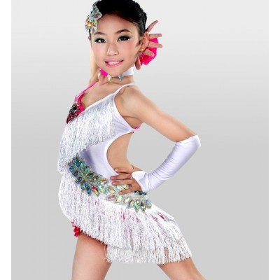 Children 's Latin dance dress children' s samba competition clothing dress girls girls diamond dress