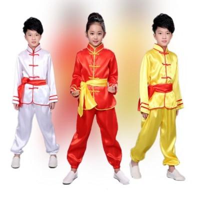 Children Tae Kwon Do Kids Wushu Boy Chinese Traditional Clothing China Kungfu Suit Kung Fu Uniforms For Girl Costumes Kungfu