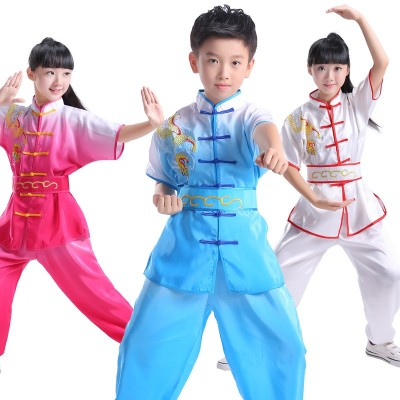 Children Tai Chi clothing practice clothes martial arts training clothes long sleeves martial arts performance clothing