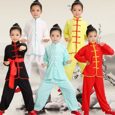 Children Wushu Costume New Youth girls boys Tai Chi martial students Kung Fu performance clothing