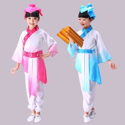 Children's costumes Hanfu national uniform disciples boys performances girls three-character scriptures costumes