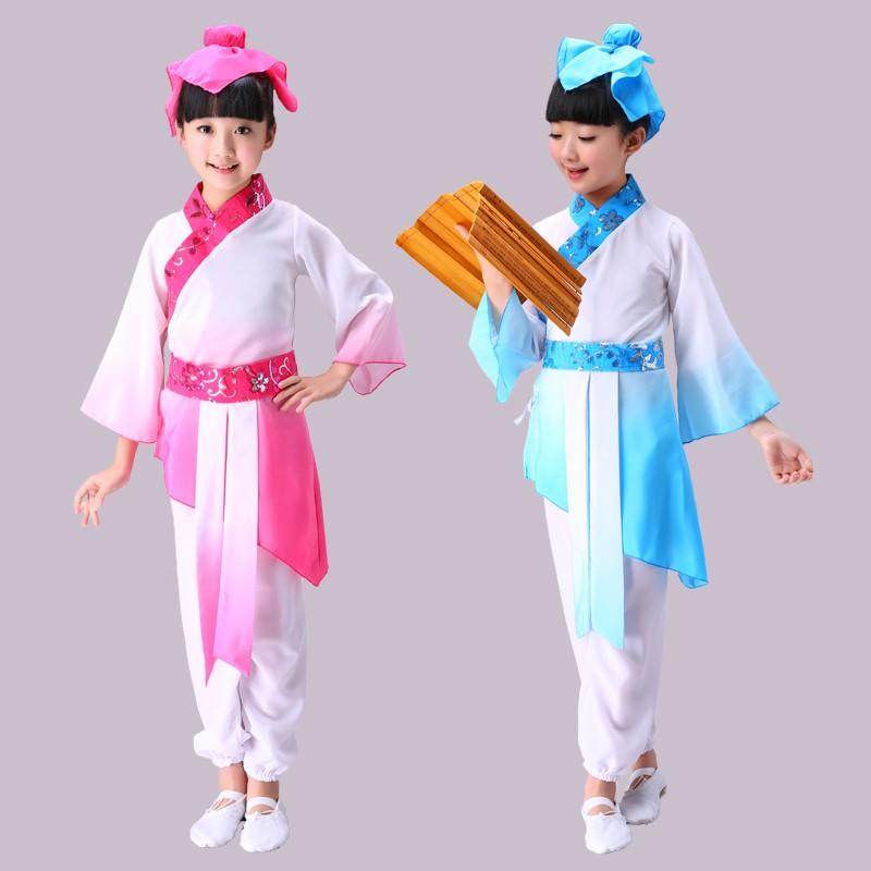 236497363779 Children's costumes Hanfu national uniform disciples boys performances  girls three-character scriptures costumes