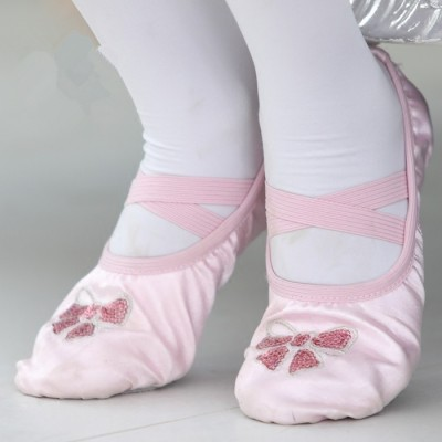 Children's dancing shoes, cat's claw shoes, training shoes, embroidery, soft bottom training shoes, ballet shoes 9073