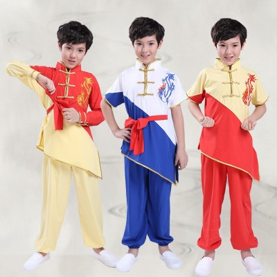 Children's martial arts clothing children's practice clothes Wushu Competition Clothes