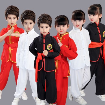 Children's martial arts performance competition, Tai Chi, Kung Fu dress, long sleeves, boys and girls, children's kindergartens, primary school children