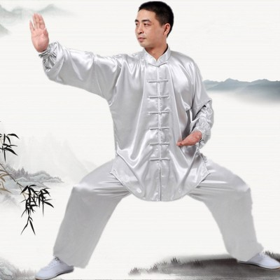 Chinese Kung Fu uniforms Long sleeve Tai Chi clothing South Korea Martial Arts Costume wushu Performance Suit