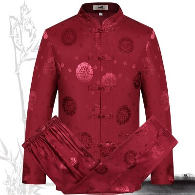 Chinese long-sleeved Tang suit spring and autumn long-sleeved Chinese style men's Chinese clothing