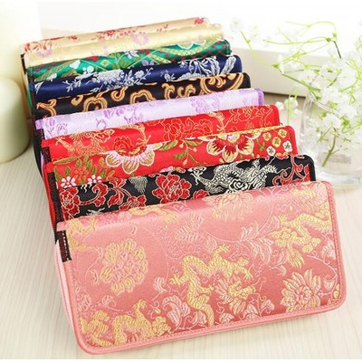 Chinese style gift damask cloud wallet embroidery ladies handbag