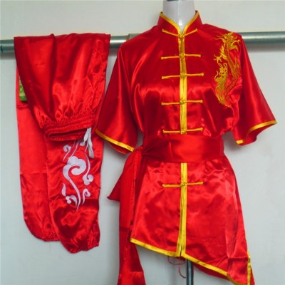 Chinese wushu uniform Kungfu clothes Martial arts suit ChangQuan clothing for women children girl boy men kids embroidery dragon
