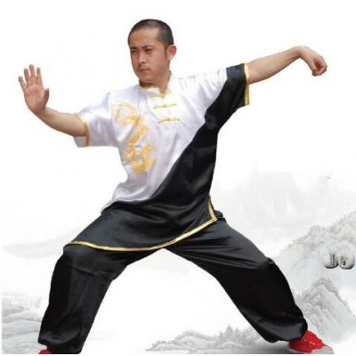 Chinese wushu uniform Kungfu clothes Martial arts suit taolu clothing for women children girl boy men kids embroidery dragon