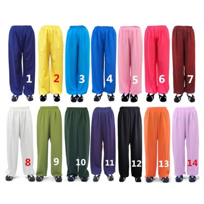 Customize Linen Tai Chi Kung fu Martial arts Pants Wushu Wing Chun Trousers