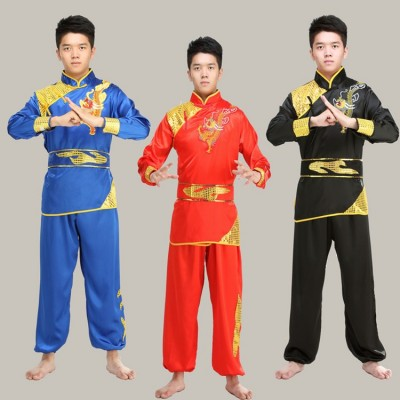 Embroidered martial arts performance clothing long sleeves Nanquan practice clothes Wushu competition clothes