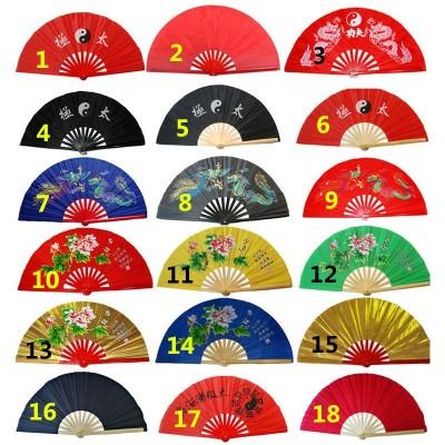 Fitness tai chi fan martial artsshirts kung fu taichi taiji performance two dragons fans 6 colors