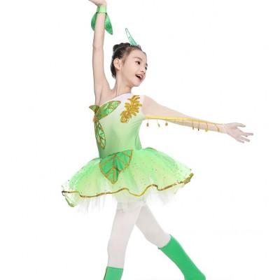Girls Folk Dance Dress Ethnic dance skirt Children's performance skirt