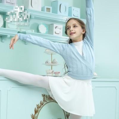 Girls knit dance dress coat, suit children's exercise clothes sweater pants