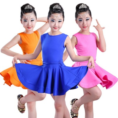 Girls latin dance dress Ballroom Dance Wear Salsa Tango Rumba Samba Costume children