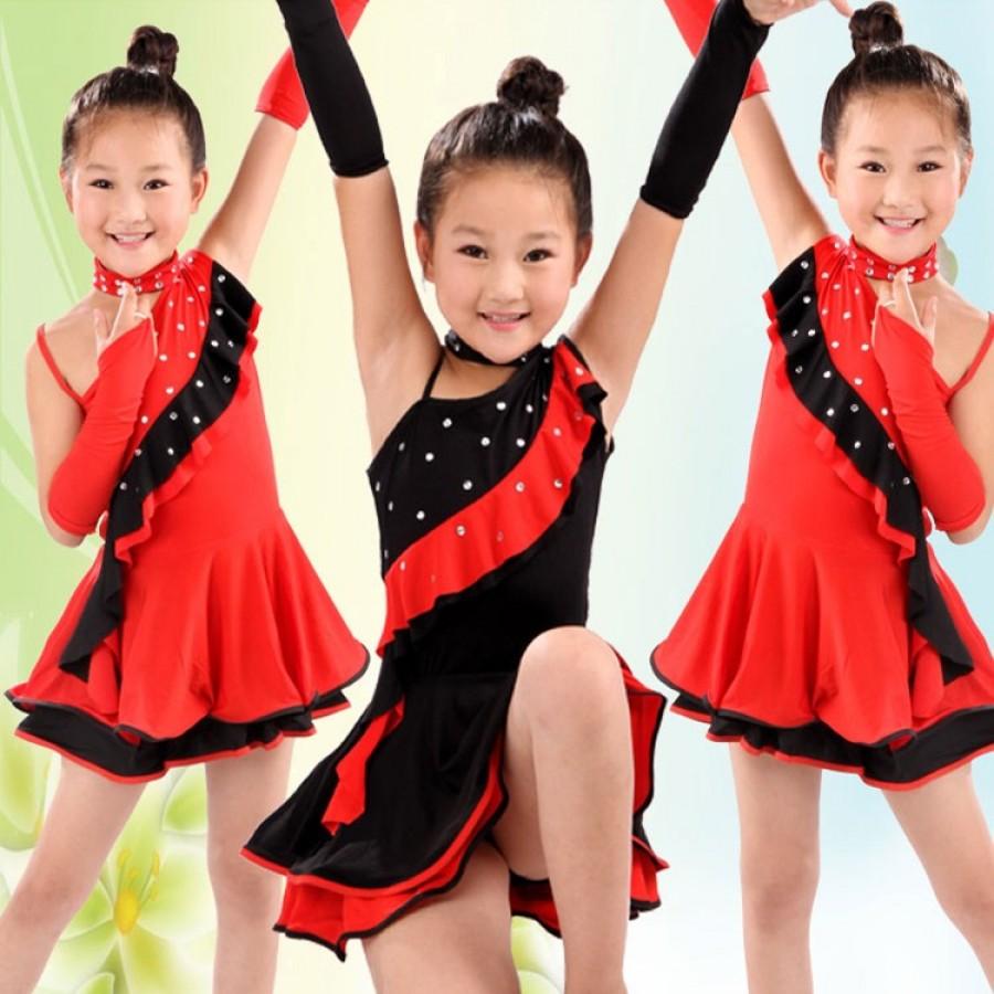 eba33cb3c52e6 Girls Latin Dance Dress For Girls Samba Dress Ballroom Dancing Dress ...