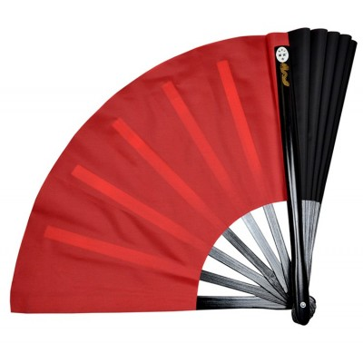 Kun Master Bamboo Tai Chi Kung Fu Fan Martial Arts Practice Performance Both Sides Covers Free Match Double-sided fan