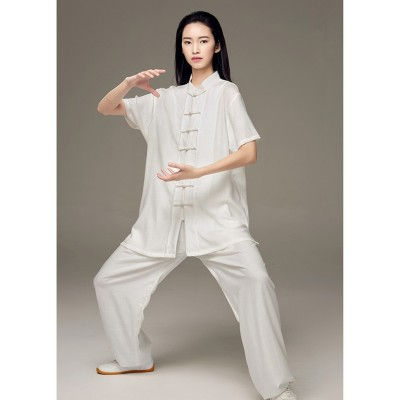 Kung fu short-sleeved Tai Chi clothing Summer female Tai Chi practice clothes