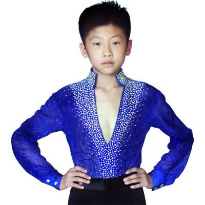 Latin Dance Competition Costumes Kids Boys Latin Ballroom Dance Dress Suit Performance Clothing