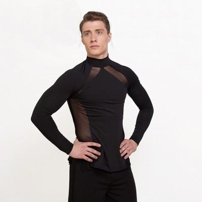 Latin Dance Shirts For Males White Black Color Modal Shirt Classical Men Chacha Professional Ballroom Jackets