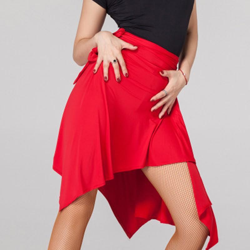 Latin Dance Skirt For Women Black Purple Red Professional Sumba Dancing Skirt Adult Cheap Stage Rumba Latin Dress