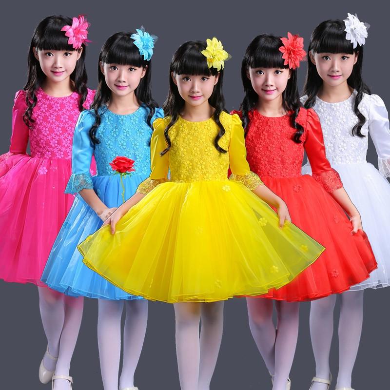48f7a698ec Long sleeved children s performance costume