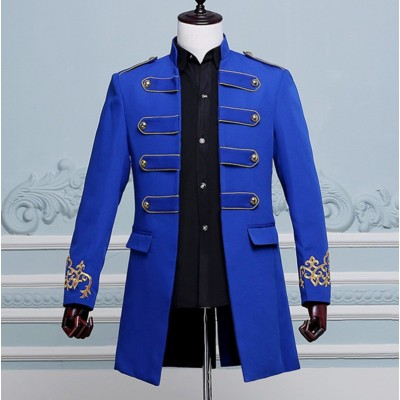 Men's Jazz Dance Costumes  Male costumes grooms wedding dresses groomsmen men welcoming clothes men's wedding dress windbreaker
