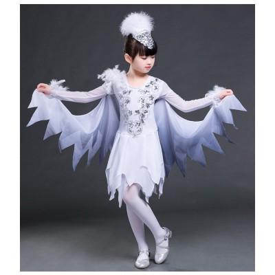 modern dance jazz dress for girls children singers dancers birds animals cosplay costumes