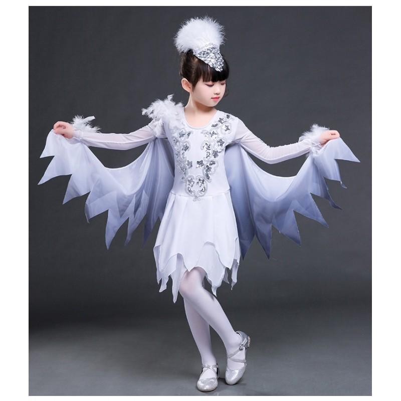 modern dance jazz dress for girls children singers dancers birds animals  cosplay costumes 3e4e39f14