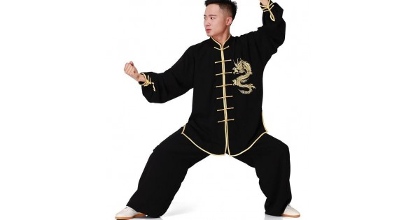 New Embroidery Tai Chi suits Cotton Wu Shu clothes Kung Fu