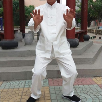 pure cotton tai chi suits Traditional Chinese men kung fu martial arts clothing sets wing chun tang suit clothes