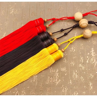 Tai Chi Or Kung Fu Sword Tassel Martial Arts Hard Return Tassel Black Yellow Red Brown