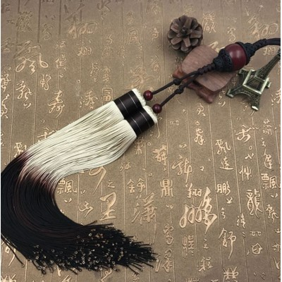 Tai Chi Or Kung Fu Sword Tassel Martial Arts Hard Sword Tassel Multi Color White And Brown