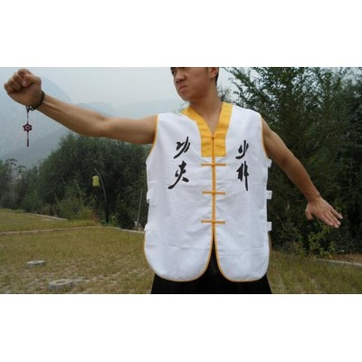 White Color Shaolin Monk Uniform Sleeveless Vest Martial arts Wushu Kung fu Suit