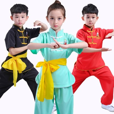 Wing Chun Tai Chi Clothing Set Chinese Tang Suit Kids Kung Fu Clothes Uniform Set children Warrior Costum