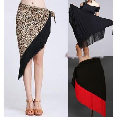 Women  Latin Dance Skirt Professional Sumba Tassel Dancing Skirt Adult Cheap Rumba Latin Dance Dress