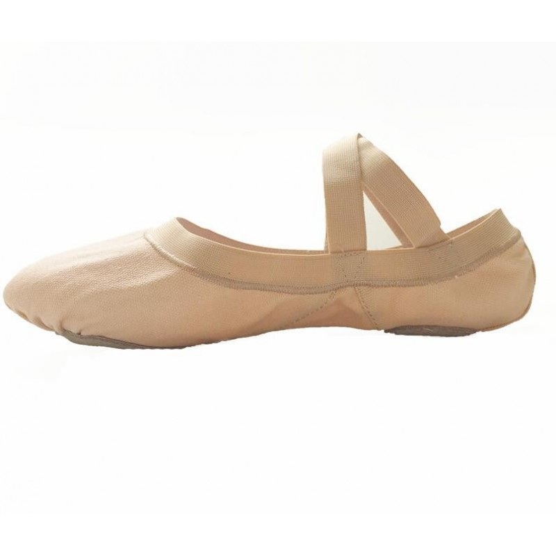Women's Dance shoes, women's soft bottom training shoes, camel, elastic mouth, beef tendon, two bottom shoes, basic training skills